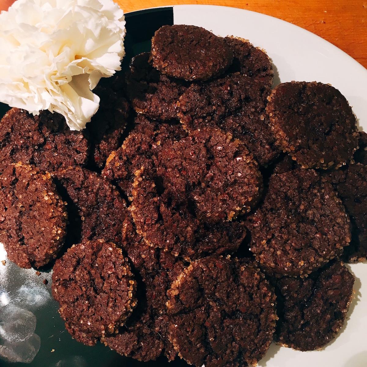 Sablè al cioccolato e fior di sale